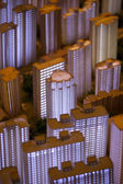3D model of the illuminated city of Shanghai — ストック写真