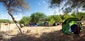 Panorama de un camping en Sicilia — Foto de Stock