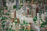 3D model of the city of Shanghai — 图库照片