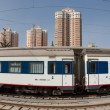 Stock Photo: Modern train stopped in a train station in China