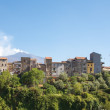 Typical village in Sicily with Etna volcano in the background — Stock Photo #35787913