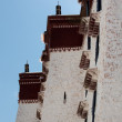 Stock Photo: Detail of PotalPalace in Lhasa