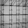 Scaffolding on construction site — Stock Photo
