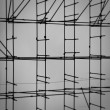 Stock Photo: Scaffolding on construction site