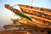 Close up of a fisher boats in Saint Louis — Stock Photo