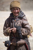 Portrait of a Yak man working in Tibet — Stock Photo