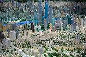 3D model of the city of Shanghai — Stock Photo