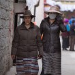 Women walking in the old city of Lhasa in Tibet. — Stock Photo #35800277
