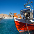 Little fishers boats in Folegandros, Greece — Stock Photo