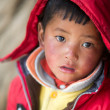 Portrait of a young kid in Tibet, China — Stock fotografie