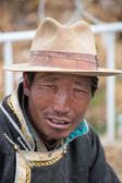 Portrait of a Tibetan man smiling — Stock Photo