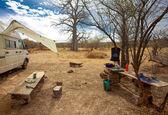 Camper in campsite — Photo