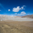 Tibetan landscape on the Friendship Highway in Tibet — Stock Photo