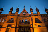 Historical Old Market of Gdansk at night in poland — Stock Photo