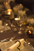 Christmas table setting with retro style — Stock Photo