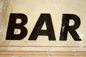 Sign bar background — Stock Photo