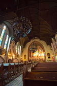 Interiors of a church in Gdansk — Stock Photo