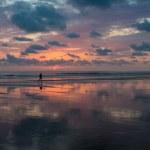 Sunset on the beach of Matapalo in Costa Rica — Stock Photo #40170805