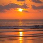 Sunset on the beach of Matapalo in Costa Rica — Stock Photo