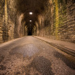 Stock Photo: Old vintage tunnel in Biarritz at night