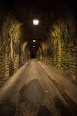 Old vintage tunnel in Biarritz at night — Stock Photo
