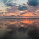 Sunset on the beach of Matapalo in Costa Rica — Stock Photo #40181931