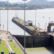 Gates and basin of Miraflores Locks Panama Canal — Stock Photo