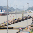 Постер, плакат: Gates and basin of Miraflores Locks Panama Canal
