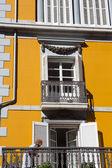 Detail of facade in Lekeitio — Stock Photo