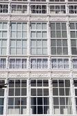 Detalhe da fachada em lekeitio — Foto Stock