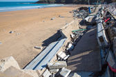 Damages in Lekeitio after hurricane Christine — Stock Photo