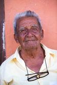 Portrait of an old man in Cartagena — Foto de Stock
