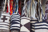 Wayuu bags for sale in Cartagena — Stock Photo