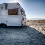 Vintage Trailer in Desert of Nevada — Stock Photo #45042131