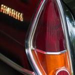 Detail rear brake light vintage car — Stock Photo #45047087