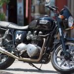 Постер, плакат: Vintage British Triumph Trident motorcycle