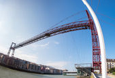 Panoramic view of the Biscay Bridge — Stock Photo