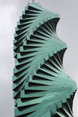 Twisted sky scraper in Panama City — Stock Photo