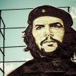 Che Guevara painting over building in Cuba — Stock Photo #45254123