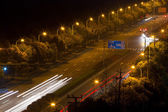 The light trails on the steet in shanghai  — Stock Photo
