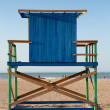 Wood Lonely lifeguard tower on the beach in Colombia — Stock Photo #45380519