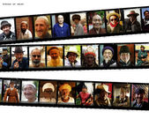 Different portraits of Asian man from all over Asia — Foto Stock