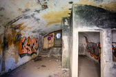 Interior German bunker in Brittany, — Stock Photo