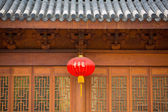 Facade of an ancient Chinese temple  — Stock Photo