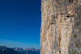 Dolomite peaks, mountains and blue horizon in Itally — Stock Photo