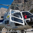 Mountain rescue helicopter in the italian Alps — Stock Photo #50953859
