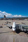 Panorama del aeropuerto de zurich — Foto de Stock