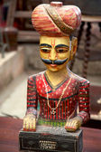 Wooden vintage statue from Rajasthan in India — Stock Photo