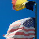 US Friendship Flag Pin - Belgium — Stock Photo #6772403