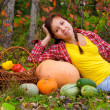Stock Photo: Girl with vegetables